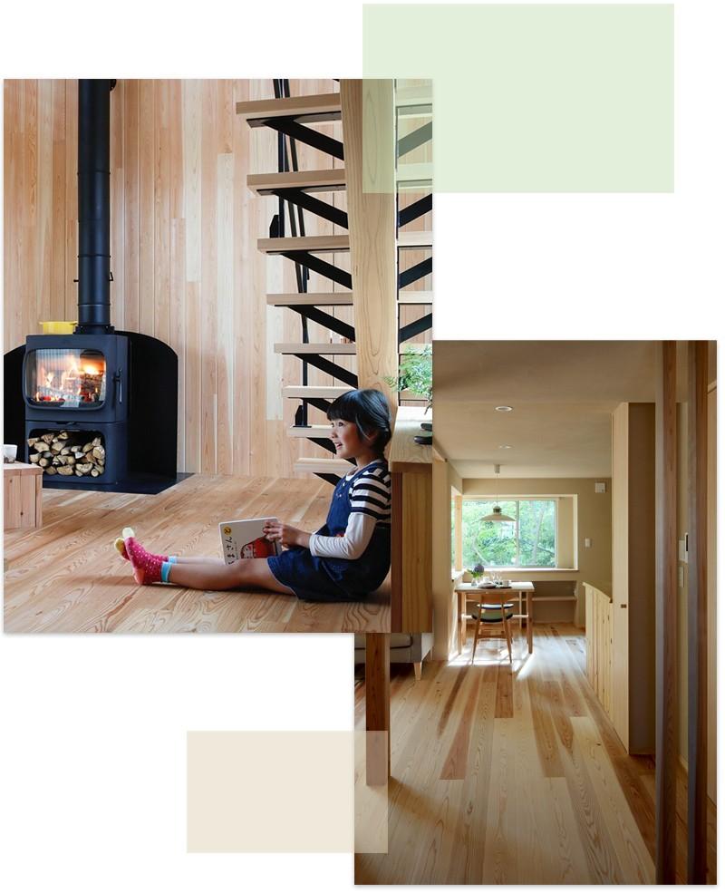 自然素材の木の家 新築注文住宅のイメージ