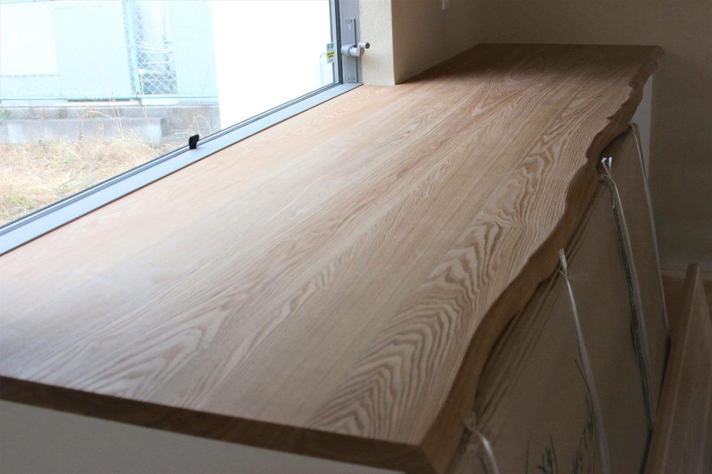 緑台 新築注文住宅 木のカウンターテーブル