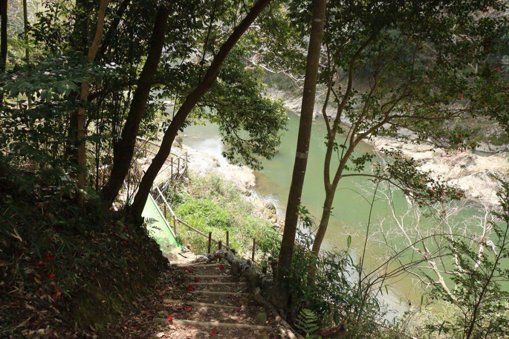 水明台エドヒガンの森 猪名川への遊歩道